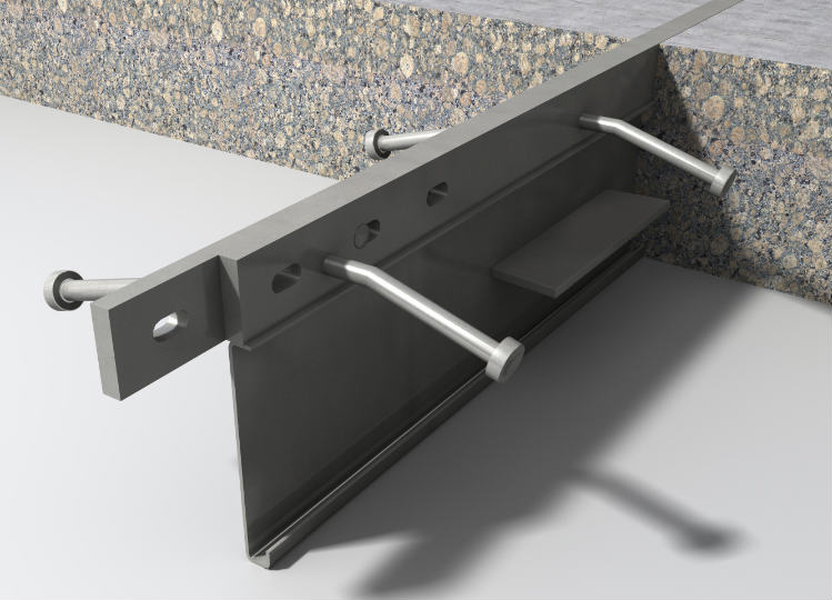 Permaban AlphaJoint Classic 4010 armoured joint for concrete slabs